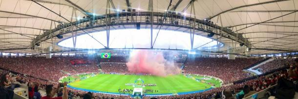 O Flamengo tem a maior média de público deste Brasileirão: nos nove jogos em casa, a média é de 54.332 pessoas (Foto: Alexandre Vidal / Flamengo)