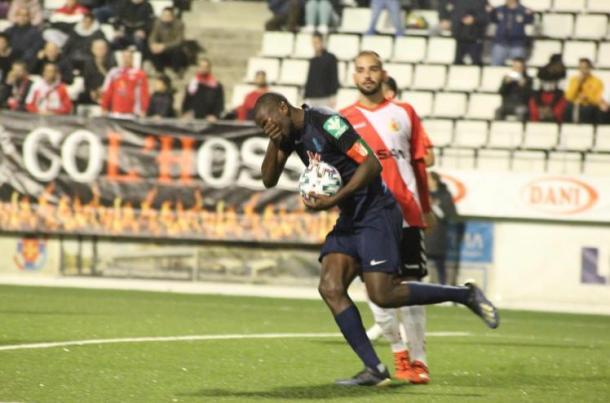 Ramos celebra el gol de la remontada   Foto: Óscar Yeste