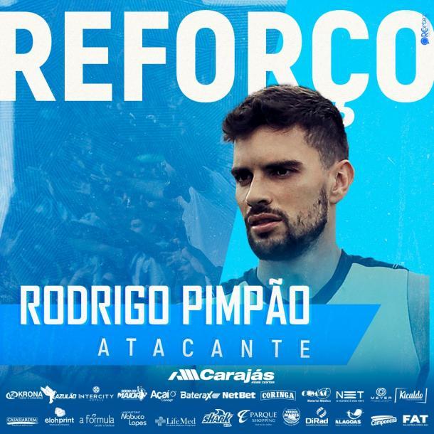 Rodrigo Pimpão foi anunciado como reforço do CSA. Foto: Repordução