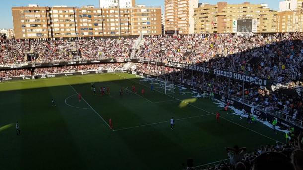 Partido contra el Real Madrid. Fuente: Alejandro Garcerán