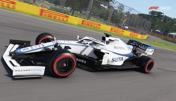 El auto de Maximiliano Rosa (Battle Axe) que corre con la constructora Williams Racing