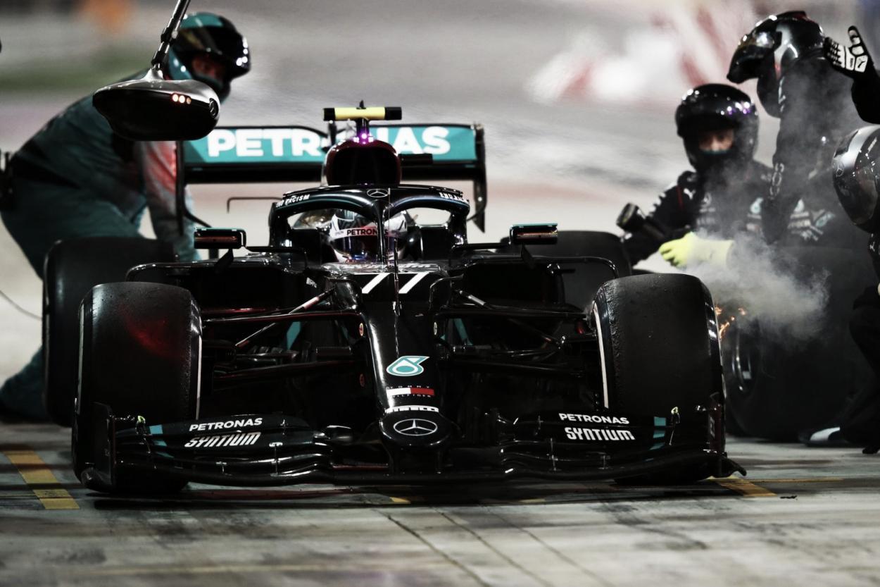 Parada desastrosa de Mercedes (Fuente: F1)