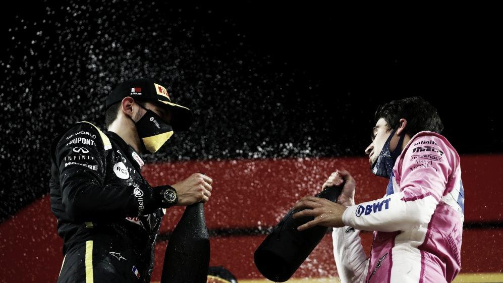 Ocon y Stroll en el podio (Fuente: F1)