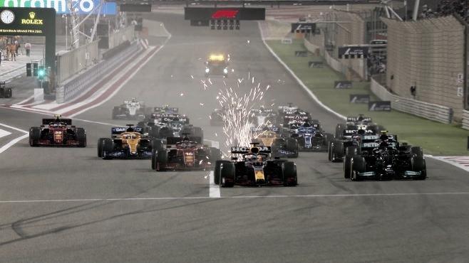 Salida del GP de Barhein (Fuente: F1.com)