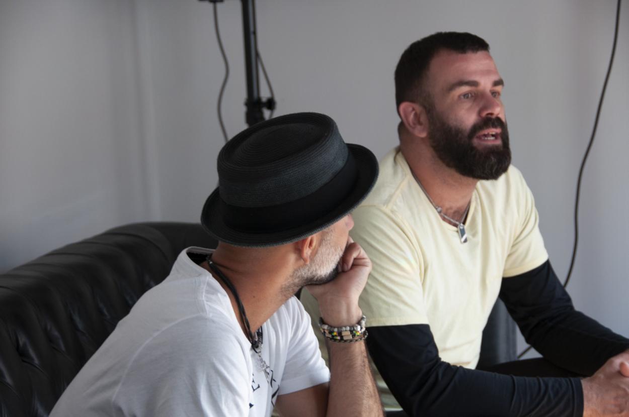 Iván y Arturo durante la entrevista // Foto: Paula Rodríguez Monterrubio
