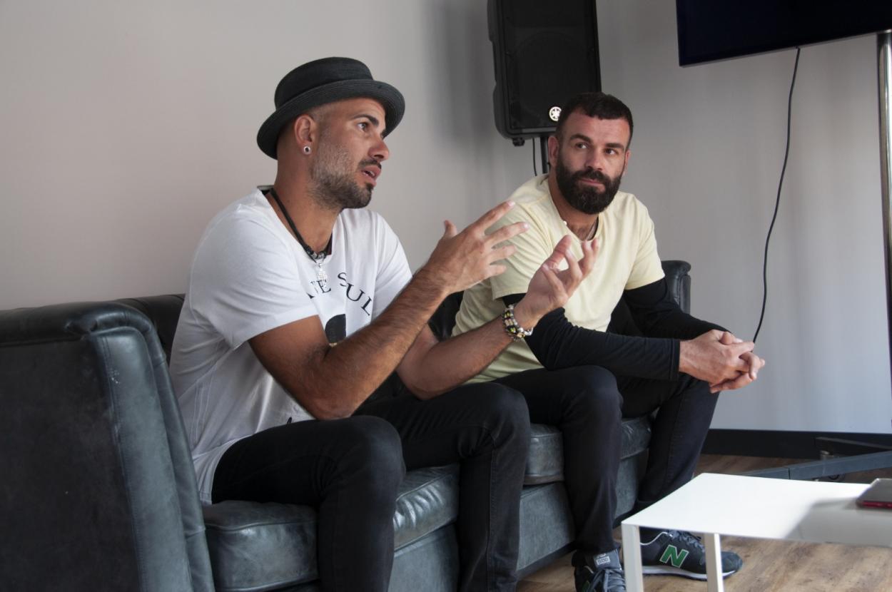 Iván y Arturo durante la entrevista // Fuente: Paula Rodríguez Monterrubio