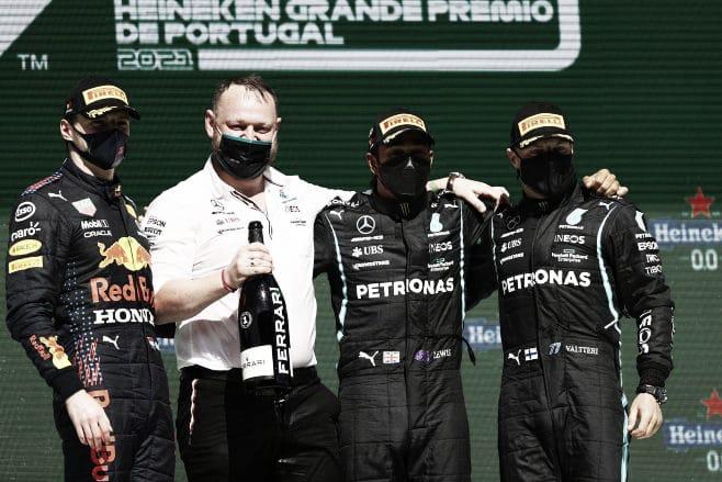 Podio del GP de Portugal (fuente: f1)