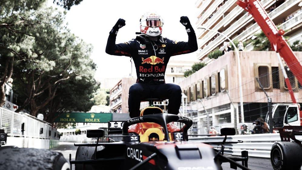 Verstappen celebrando su victoria (Fuente: f1.com)
