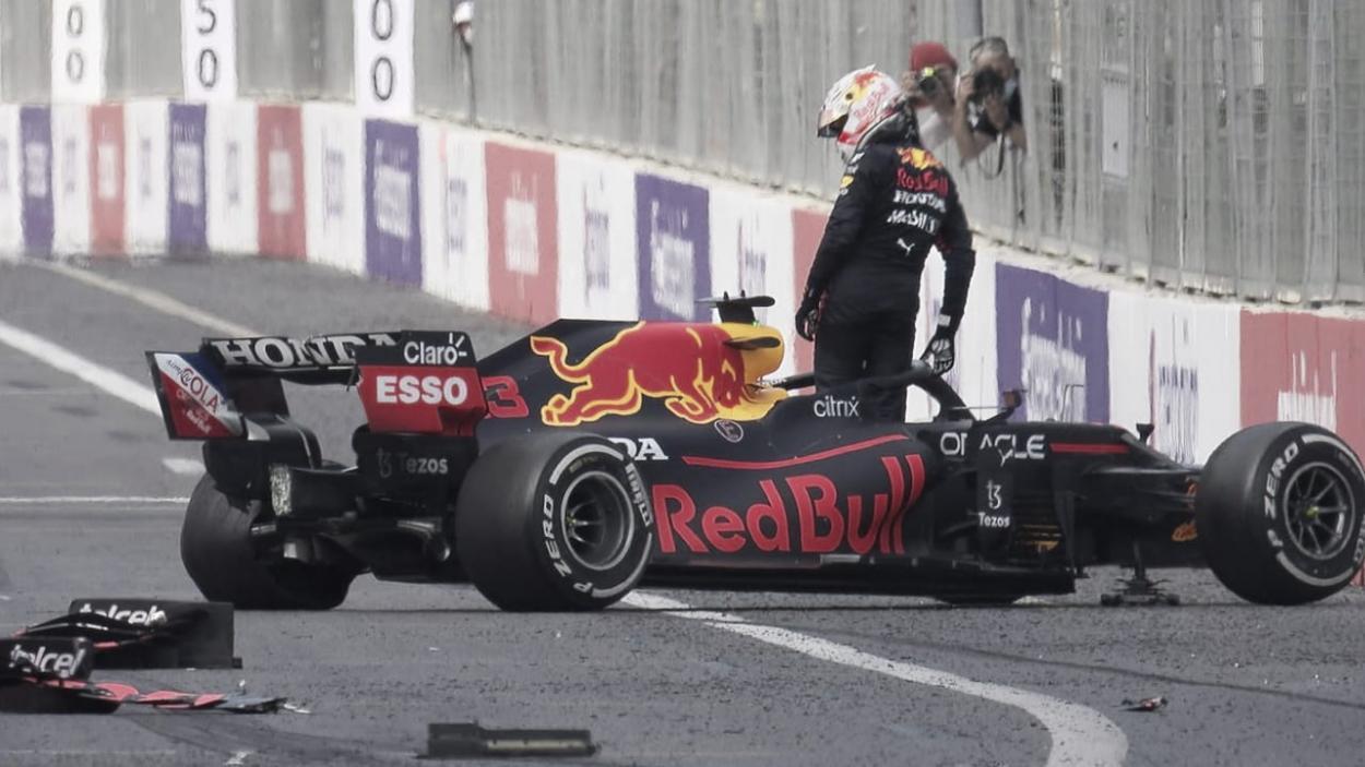 Accidente y desesperación de Verstappen (fuente: f1.com)