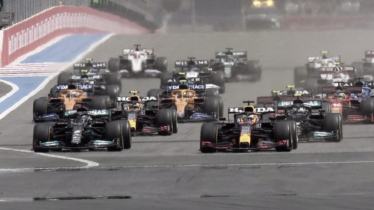 Salida del Gran Premio de Francia. (Fuente:f1.com)