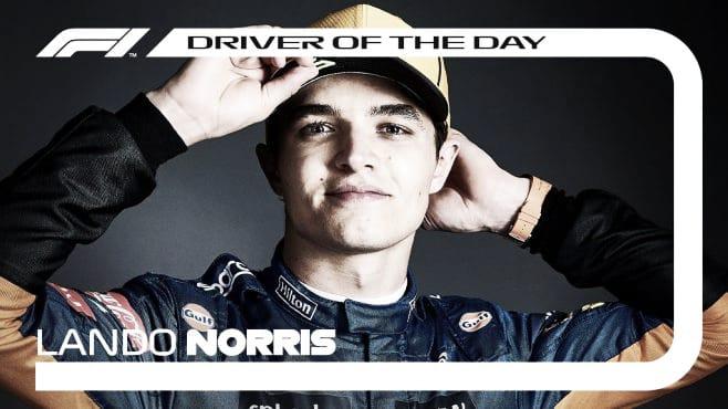 Lando Norris elegido piloto del día. (Fuente: f1.com)