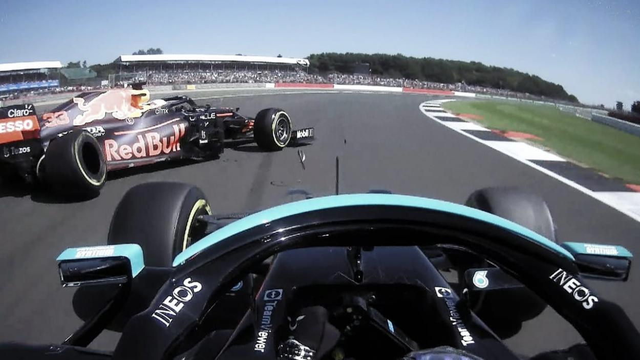 Accidente de Hamilton y Verstappen. (Fuente: f1.com)