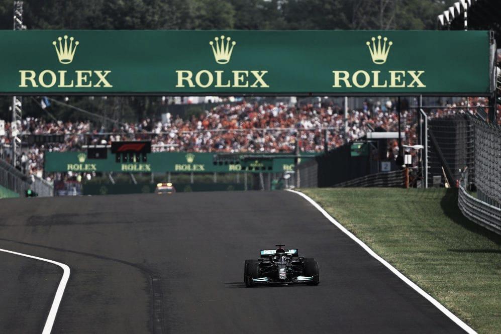 Salida en solitario de Lewis Hamilton. (Fuente: f1.com)