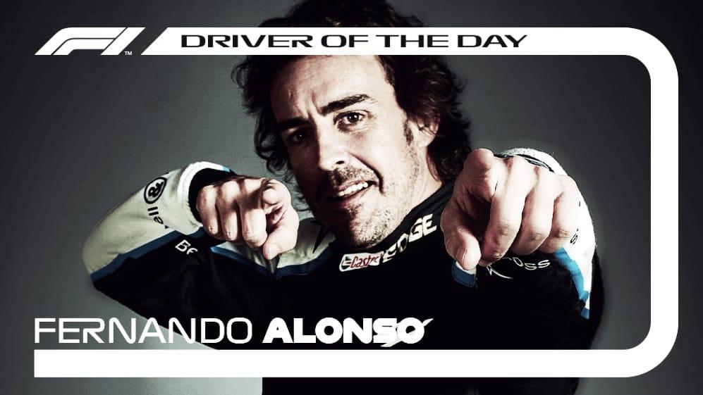 Fernando Alonso nombrado piloto del día. (Fuente: f1.com)