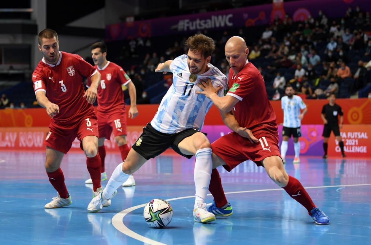 Alan Brandi, goleador de Argentina en Lituania 2021. Foto: Selección Argentina.