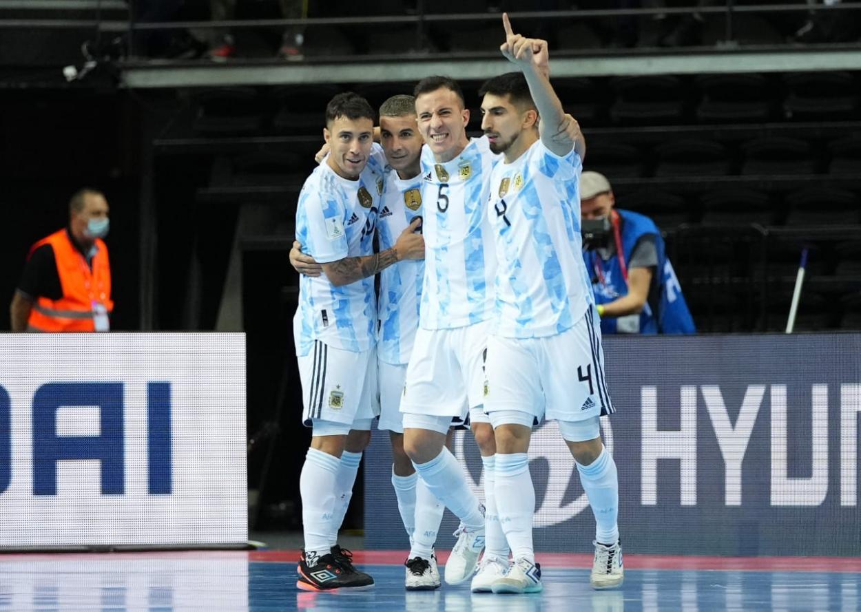 Festejos argentinos por el pase a la final. Foto: Selección Argentina.