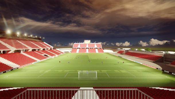 Imagen de la remodelación del Estadio Tlahuicole publicada por el gobierno de Tlaxcala
