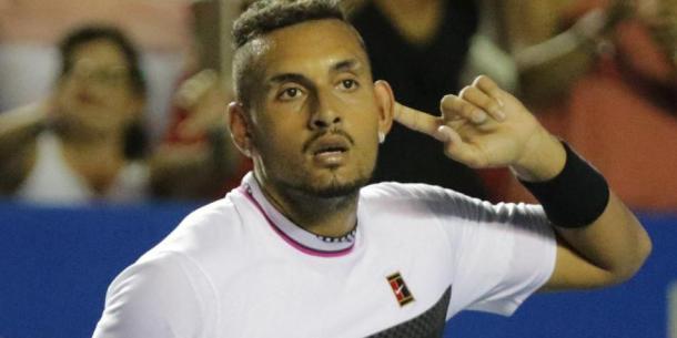 Polémico gesto de Kyrgios luego del partido  Foto: BA Tenis