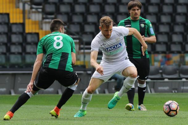 Widmer in amichevole. Fonte: www.facebook.com/UdineseCalcio1896