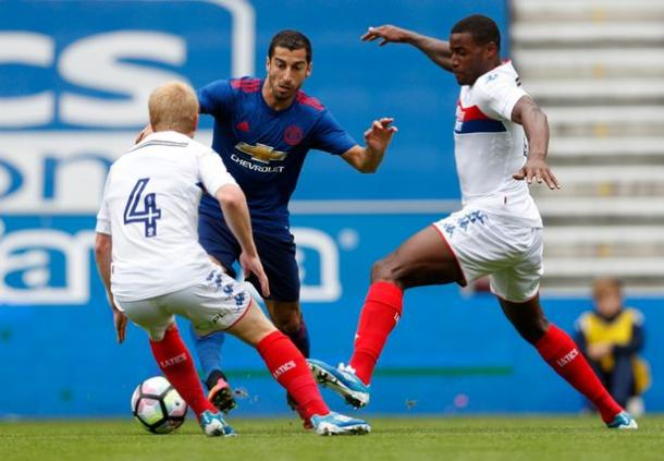 Mkhitaryan put in a top performance on his debut in the friendly with Wigan | Photo: mirror.co.uk