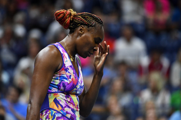 Williams shows some frustration at the US Open. Photo: Alex Goodlett/Getty Images