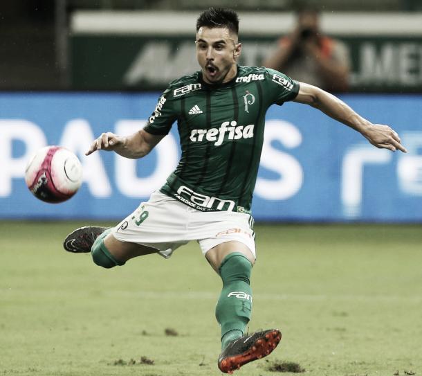 Willian vem sendo o titular na ausência de Borja (Foto: Cesar Greco/Ag Palmeiras/Divulgação)