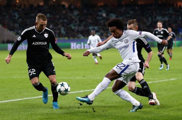 Willian, principal protagonista del encuentro | Fotografía: Chelsea FC
