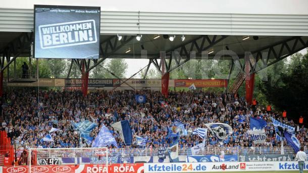 O Hertha foi convidado para jogo de reabertura do S (Foto: Reprodução / Union Berlin)