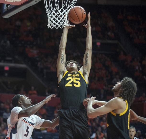 Winthrop recorded a landmark victory for the program in Champaign/Photo: Rick Danzl/Associated Press