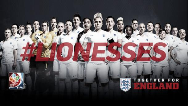 Poster for England women's world cup team (image:www.thefa.com)
