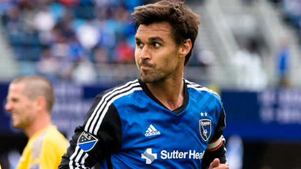 Chris Wondolowski will be looking to increase his lead of top goal scorer in MLS this season with a solid performance on Saturday against the Timbers. Photo provided by USA TODAY Sports.
