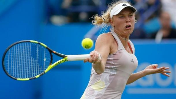 Wozniacki crashed out as she lost after a three set thriller / Foxnews