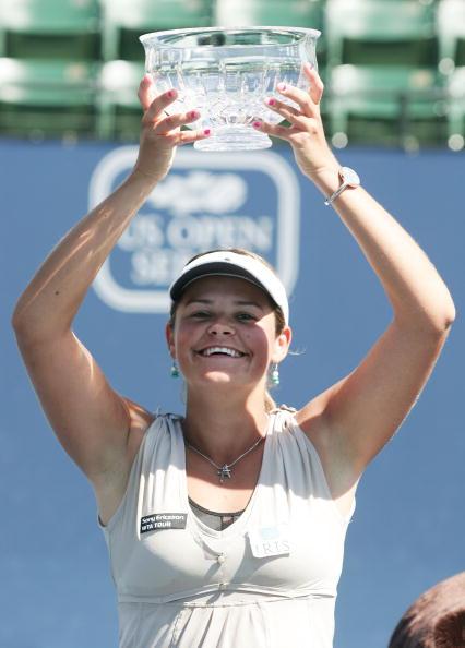 Wozniak venceu seu único título WTA em Charleston, 2008 (Foto: