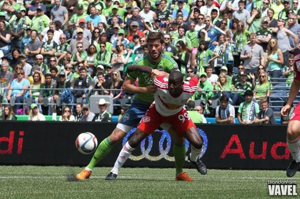 Bradley Wright-Phillips (in white) will be a key player for the New York Red Bulls | Brandon Farris - VAVEL USA