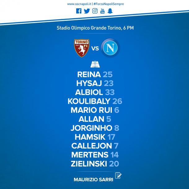XI Napoli | Foto: Twitter Napoli Oficial