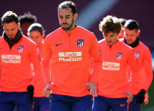 Los jugadores del Atlético de Madrid se entrenan antes del partido frente al Rayo | Fotografía: Atlético de Madrid