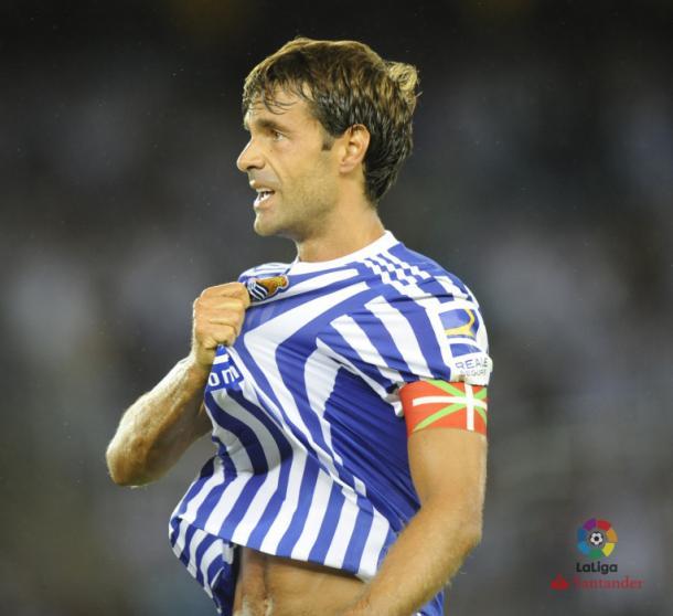 Xabi Prieto ya es un histórico de la Real Sociedad. Fotografía: Web Oficial LaLiga.