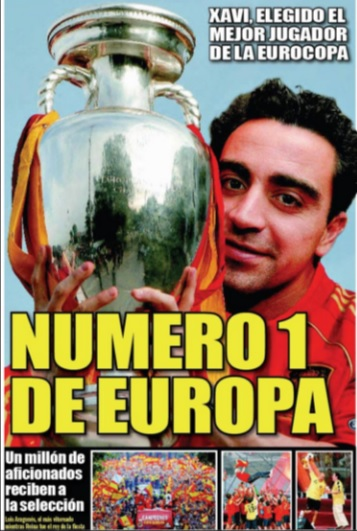 Cover in press after Euro 2008 win | Photo: Spanish Federation