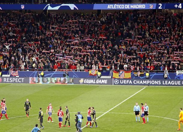 Los aficionados del Atlético de Madrid festejando el 2-0   Foto: Atlético de Madrid