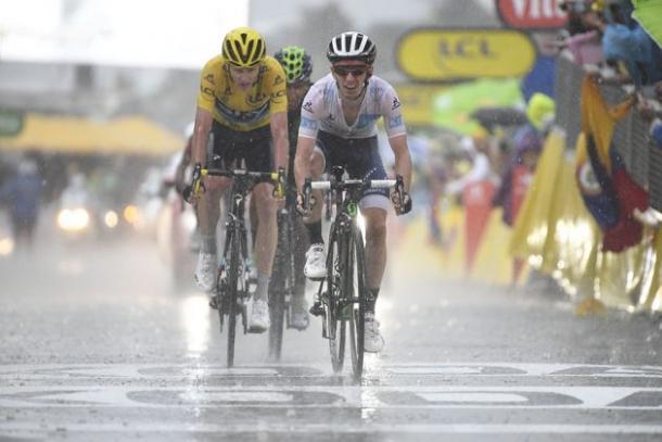 Yates, por delante de Froome y Nairo | Foto: AFP