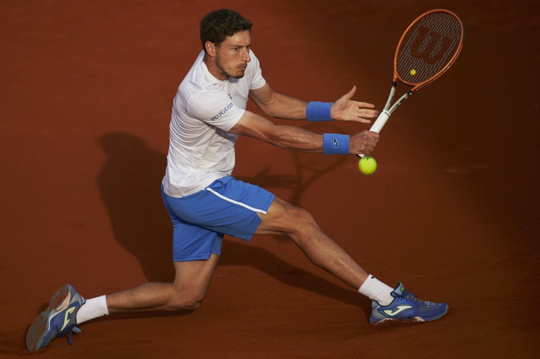 Carreno Busta in action in Barcelona/Photo: Barcelona Open Banc Sabadell