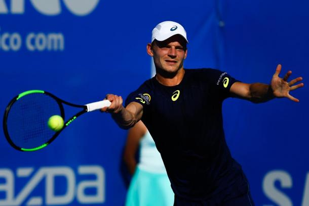 David Goffin was not able to defeat Sam Querrey and lost in two sets.  (Photo: Mextenis)