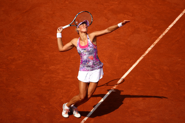 Yanina Wickmayer serves at the French Open last year | Photo: Clive Brunskill/Getty Images Europe