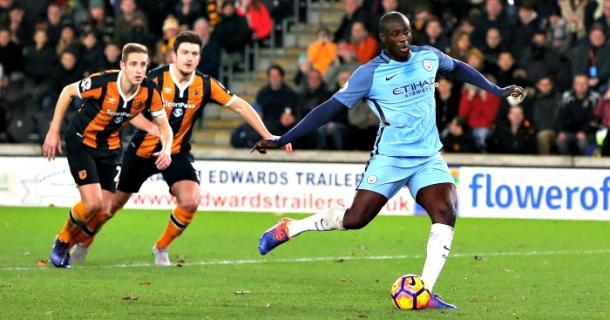 Yaya Touré ha lasciato il segno all'andata, dal dischetto, nello 0-3 complessivo. | Fonte immagine: Football365