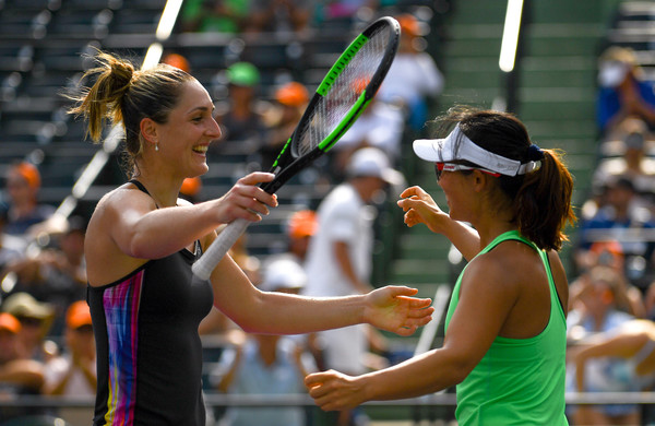 Dabrowski and Xu celebrates their triumph in Miami | Photo: Rob Foldy/Getty Images North America