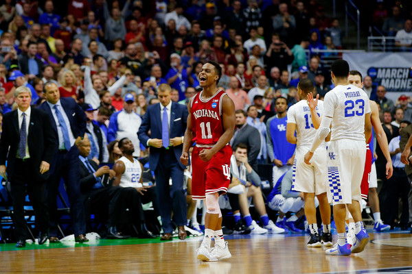 The Hoosiers escaped with a win over Kentucky to advance to their Sweet 16 matchup with the Tar Heels (Photo: Kevin C. Cox/Getty Images).