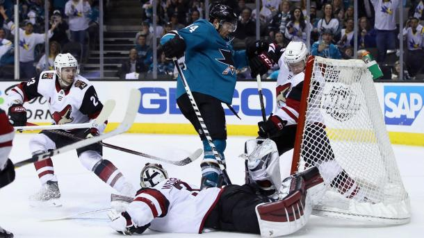 Another tough loss for the struggling Arizona Coyotes. They lost in overtime to the San Jose Sharks. (Photo: nhl.com)