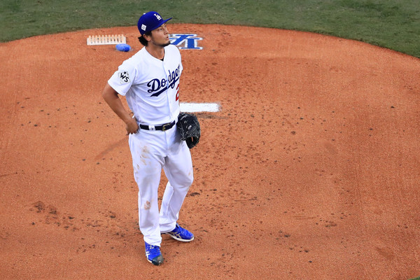 Darvish was again terrible in the biggest start of his career/Photo: Sean M. Haffey/Getty Images