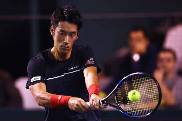 Yuichi Sugita in action at the Paris Masters | Photo: Dean Mouhtaropoulos/Getty Images Europe