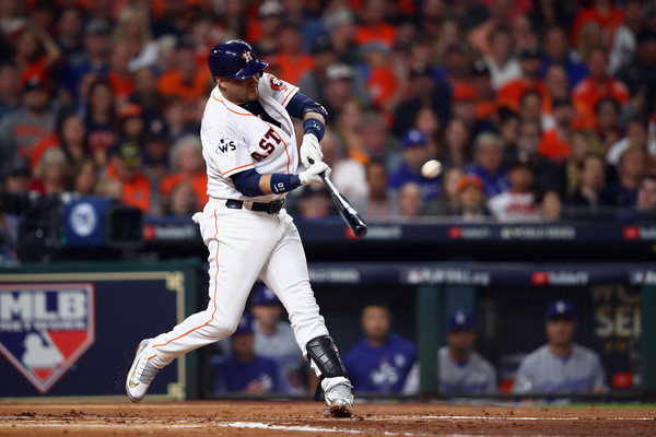 Gurriel got the Houston offense started in Game 3/Photo: Ezra Shaw/Getty Images
